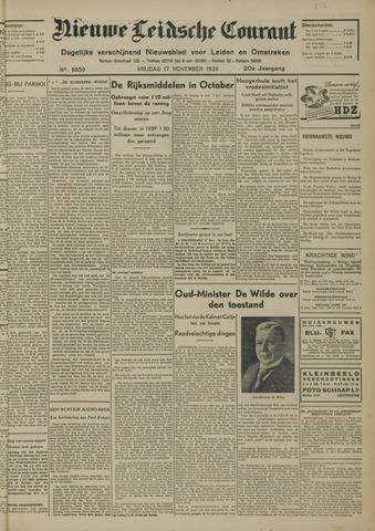 Nieuwe Leidsche Courant 1939-11-17