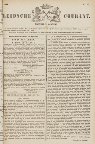 Leydse Courant 1884-01-21