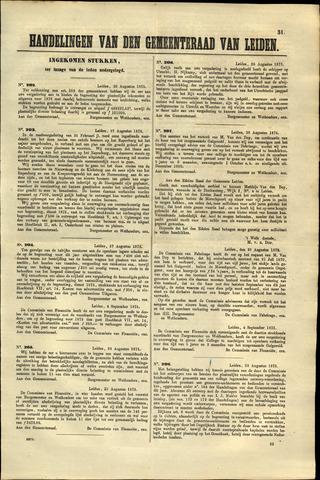 Handelingen van de Raad 1875-08-30