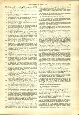 Handelingen van de Raad 1902-08-21