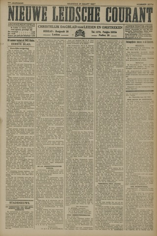 Nieuwe Leidsche Courant 1927-03-21