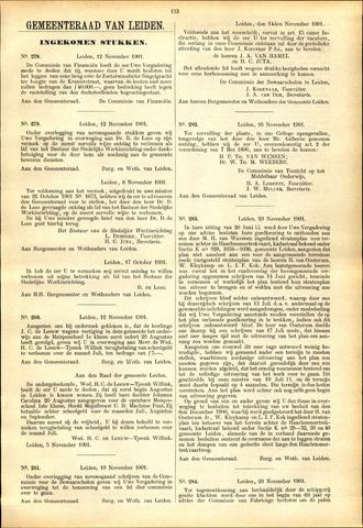 Handelingen van de Raad 1901-11-12