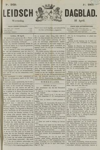 Leidsch Dagblad 1869-04-21
