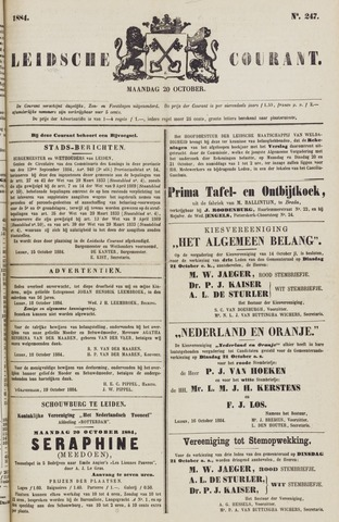 Leydse Courant 1884-10-20