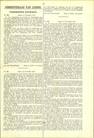 Handelingen van de Raad 1937-11-18