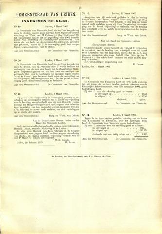 Handelingen van de Raad 1903-03-03
