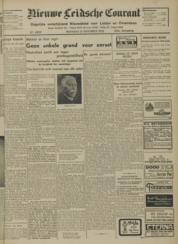 Nieuwe Leidsche Courant 1939-11-13