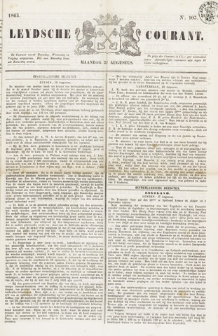Leydse Courant 1865-08-21