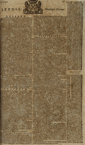 Leydse Courant 1751-01-11