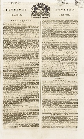 Leydse Courant 1841-01-27