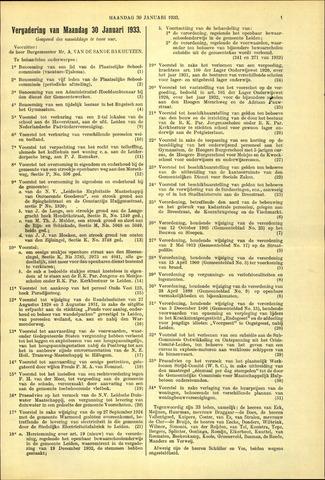Handelingen van de Raad 1933-01-30