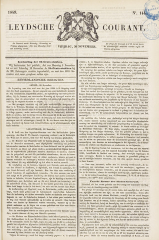 Leydse Courant 1849-11-30