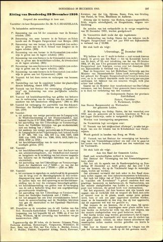 Handelingen van de Raad 1910-12-29