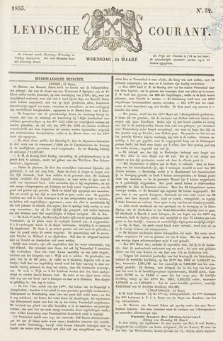 Leydse Courant 1855-03-14