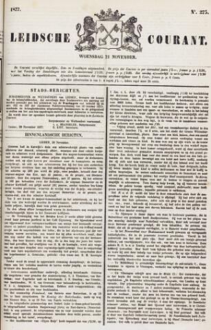 Leydse Courant 1877-11-21