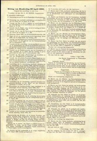 Handelingen van de Raad 1905-04-20