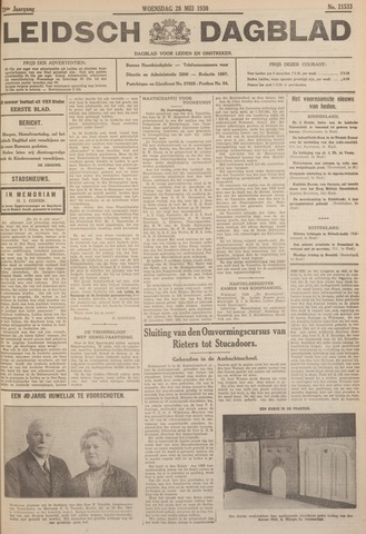 Leidsch Dagblad 1930-05-28