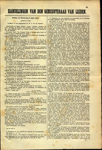 Handelingen van de Raad 1874-04-02