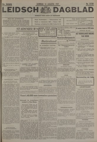 Leidsch Dagblad 1937-08-14