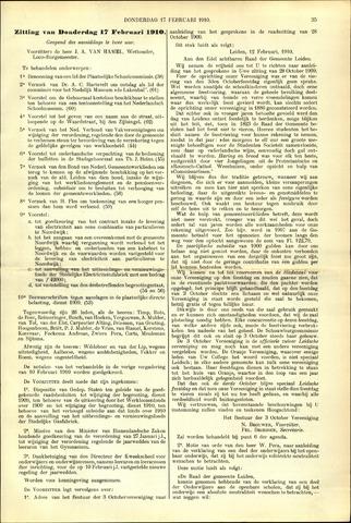 Handelingen van de Raad 1910-02-17