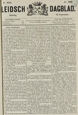 Leidsch Dagblad 1868-09-22