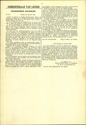 Handelingen van de Raad 1925-01-23
