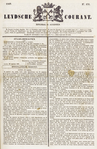 Leydse Courant 1869-08-31