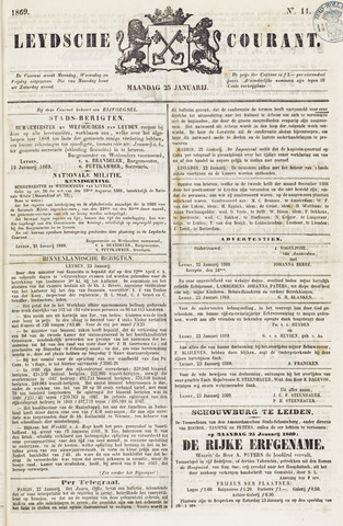 Leydse Courant 1869-01-25