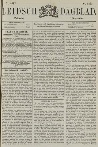 Leidsch Dagblad 1873-11-01