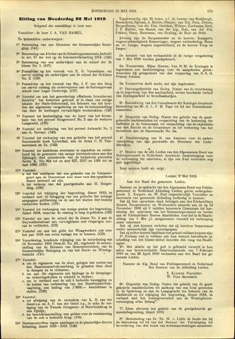 Handelingen van de Raad 1919-05-22