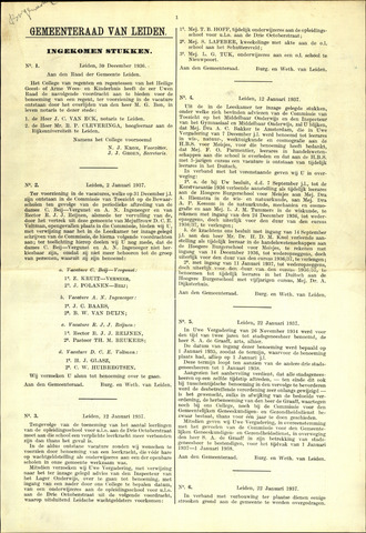 Handelingen van de Raad 1937-12-30