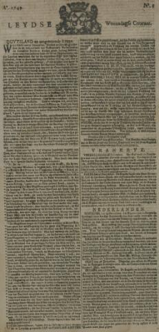 Leydse Courant 1749