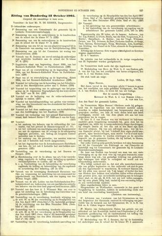 Handelingen van de Raad 1905-10-12