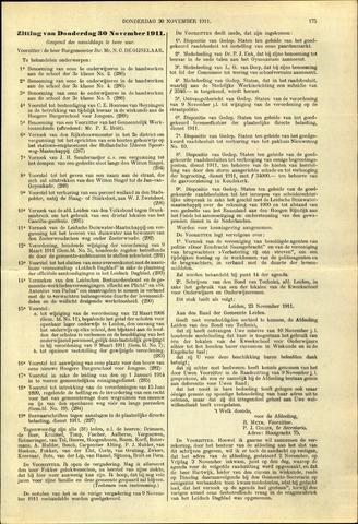 Handelingen van de Raad 1911-11-30