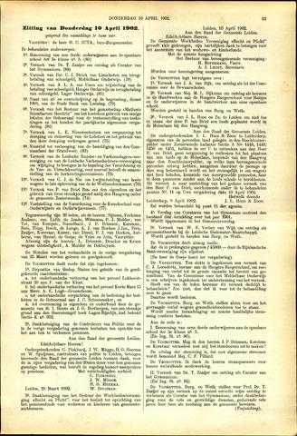 Handelingen van de Raad 1902-04-10