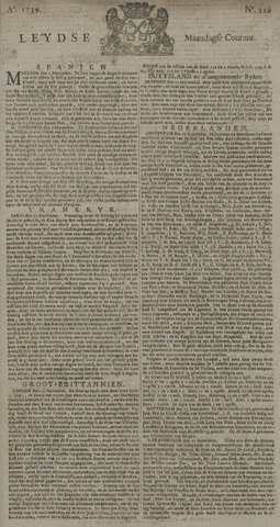 Leydse Courant 1739-09-28