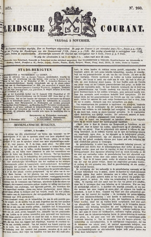 Leydse Courant 1871-11-03