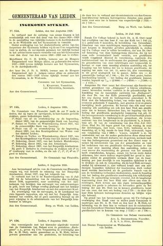 Handelingen van de Raad 1928-08-06