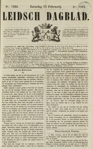 Leidsch Dagblad 1864-02-13