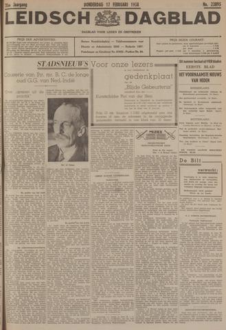 Leidsch Dagblad 1938-02-17