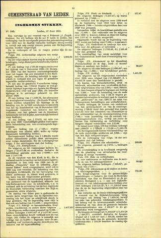Handelingen van de Raad 1931-06-27