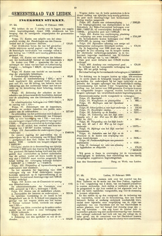 Handelingen van de Raad 1909-02-18