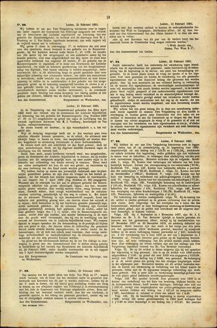 Handelingen van de Raad 1881-02-21