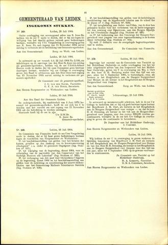 Handelingen van de Raad 1904-07-26