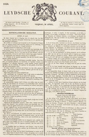 Leydse Courant 1850-04-26