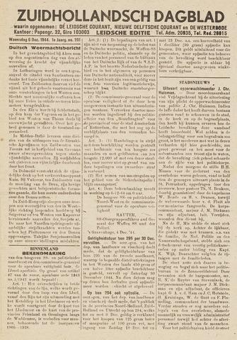 Zuidhollandsch Dagblad 1944-12-06