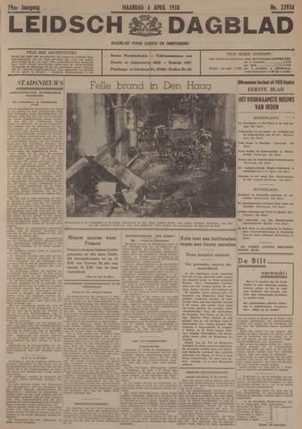 Leidsch Dagblad 1938-04-04