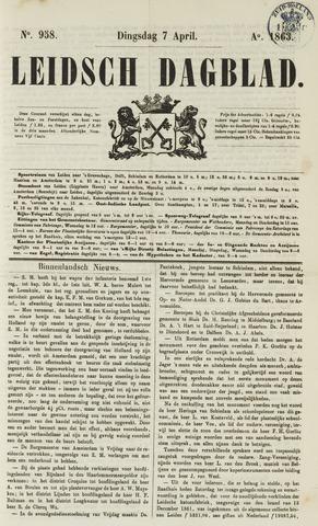 Leidsch Dagblad 1863-04-07
