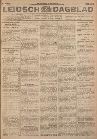 Leidsch Dagblad 1926-10-21