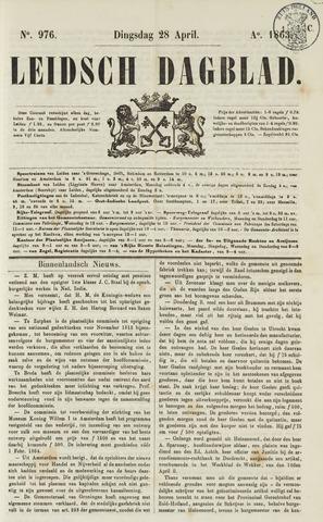 Leidsch Dagblad 1863-04-28